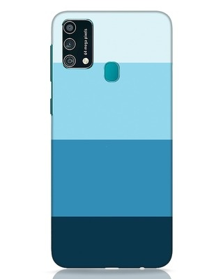 Shop Blue Ombre Stripes Samsung Galaxy F41 Mobile Cover-Front