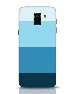 Shop Blue Ombre Stripes Samsung Galaxy J6 Mobile Cover-Front