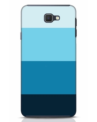 Shop Blue Ombre Stripes Samsung Galaxy J7 Prime Mobile Cover-Front