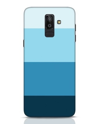 Shop Blue Ombre Stripes Samsung Galaxy J8 Mobile Cover-Front