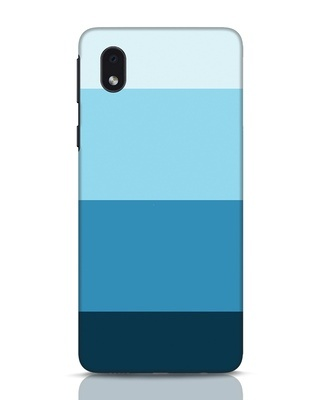 Shop Blue Ombre Stripes Samsung Galaxy M01 Mobile Cover-Front