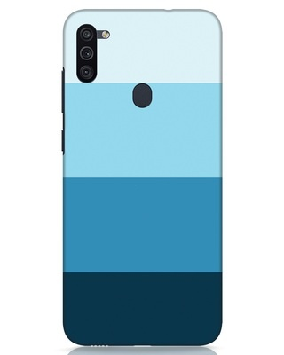 Shop Blue Ombre Stripes Samsung Galaxy M11 Mobile Cover-Front