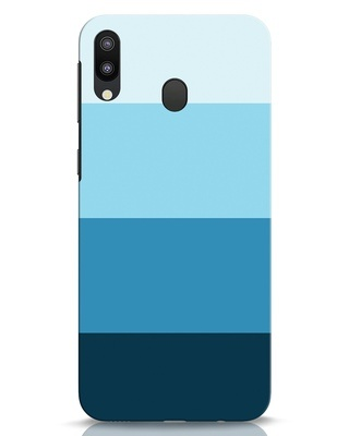 Shop Blue Ombre Stripes Samsung Galaxy M20 Mobile Cover-Front