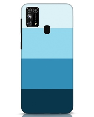 Shop Blue Ombre Stripes Samsung Galaxy M31 Mobile Cover-Front
