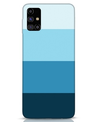 Shop Blue Ombre Stripes Samsung Galaxy M31s Mobile Cover-Front