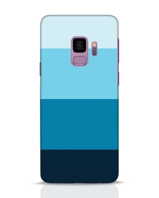 Shop Blue Ombre Stripes Samsung Galaxy S9 Mobile Cover-Front
