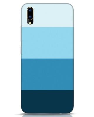 Shop Blue Ombre Stripes Vivo V11 Pro Mobile Cover-Front