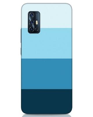 Shop Blue Ombre Stripes Vivo V17 Mobile Cover-Front