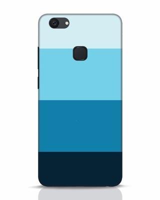 Shop Blue Ombre Stripes Vivo V7 Plus Mobile Cover-Front