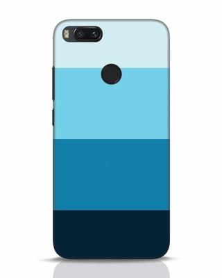 Shop Blue Ombre Stripes Xiaomi Mi A1 Mobile Cover-Front