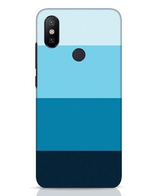 Shop Blue Ombre Stripes Xiaomi Mi A2 Mobile Cover-Front
