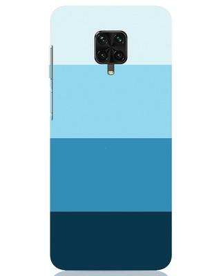Shop Blue Ombre Stripes Xiaomi Poco M2 pro Mobile Cover-Front