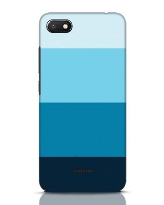 Shop Blue Ombre Stripes Xiaomi Redmi 6A Mobile Cover-Front