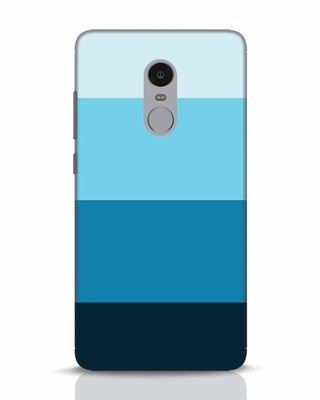 Shop Blue Ombre Stripes Xiaomi Redmi Note 4 Mobile Cover-Front