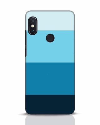 Shop Blue Ombre Stripes Xiaomi Redmi Note 5 Pro Mobile Cover-Front