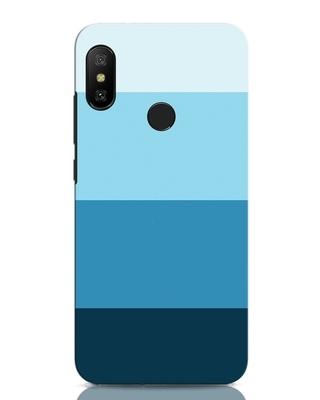 Shop Blue Ombre Stripes Xiaomi Redmi Note 6 Pro Mobile Cover-Front