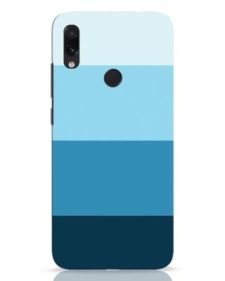 Shop Blue Ombre Stripes Xiaomi Redmi Note 7 Mobile Cover-Front