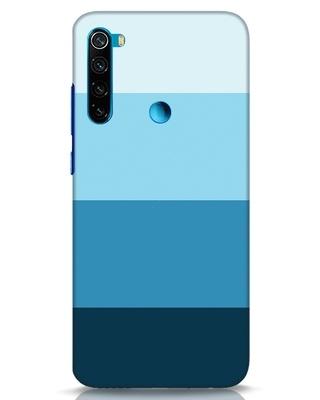 Shop Blue Ombre Stripes Xiaomi Redmi Note 8 Mobile Cover-Front