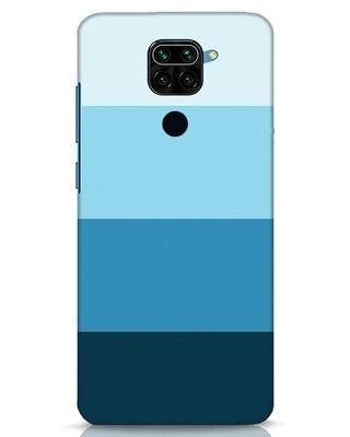 Shop Blue Ombre Stripes Xiaomi Redmi Note 9 Mobile Cover-Front