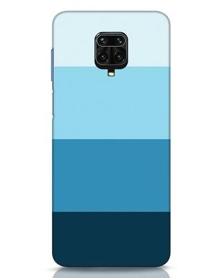 Shop Blue Ombre Stripes Xiaomi Redmi Note 9 Pro Mobile Cover-Front