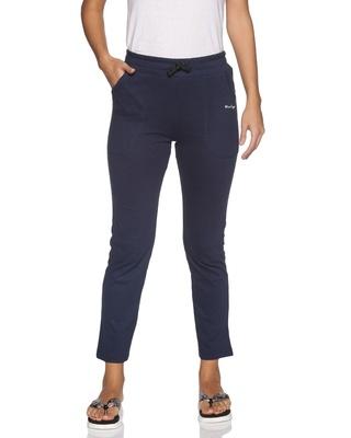 Shop Blue Tyga Women's Cotton Solid Pajama-Front