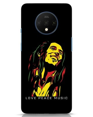 Shop Bob Peace Music OnePlus 7T Mobile Cover-Front