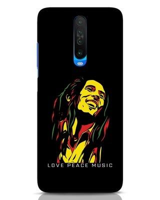 Shop Bob Peace Music Xiaomi Poco X2 Mobile Cover-Front