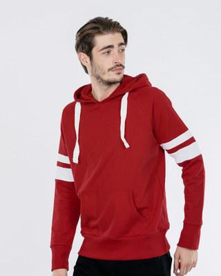 Shop Bold Red-White Sports Trim Sweatshirt-Front