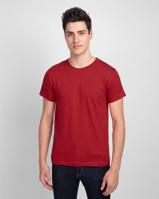 Shop Bold Red Half Sleeve T-Shirt-Front