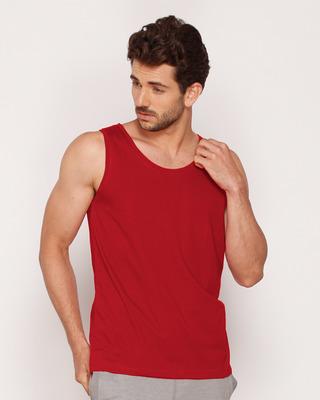 Shop Bold Red Vest-Front