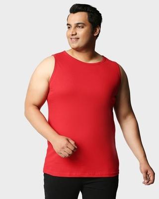 Shop Bold Red Plus Size Vest-Front