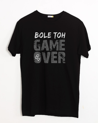 Shop Bole Toh Game Over Half Sleeve T-Shirt-Front