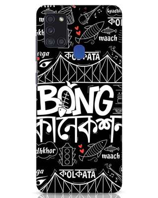 Shop Bong Connection Doodle Samsung Galaxy A21s Mobile Cover-Front