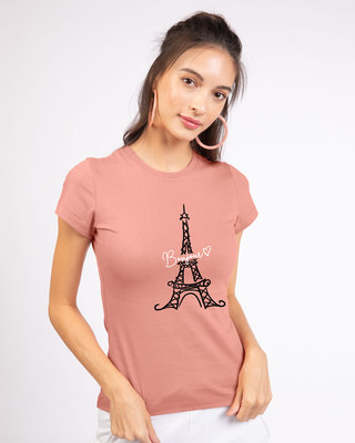 Shop Bonjour Paris Half Sleeve T-Shirt-Front