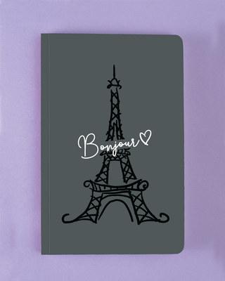 Shop Bonjour Paris Notebook-Front