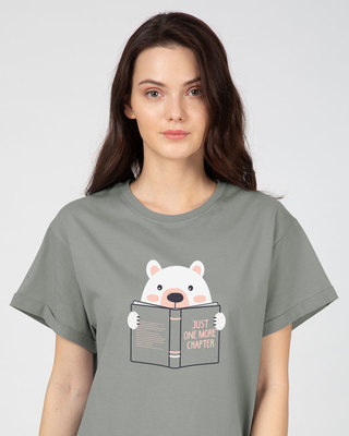 Shop Book Bear Boyfriend T-Shirt-Front