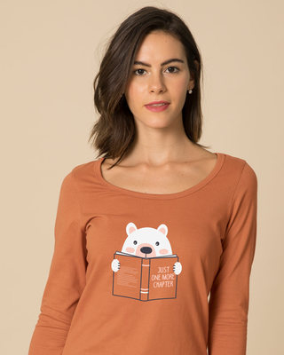 Shop Book Bear Scoop Neck Full Sleeve T-Shirt-Front