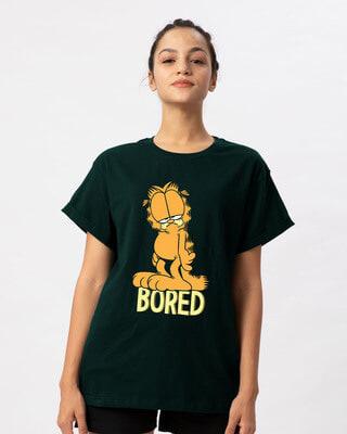 Shop Bored Cat Boyfriend T-Shirt (GL)-Front