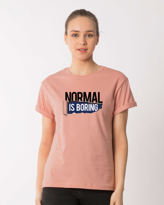Shop Boring Normal Boyfriend T-Shirt-Front