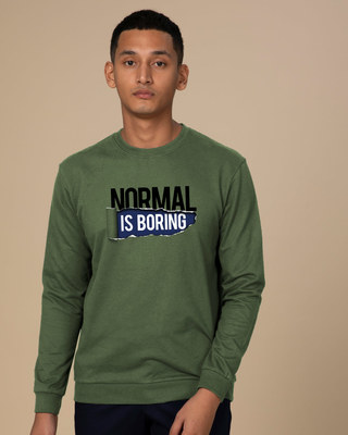 Shop Boring Normal Fleece Sweater-Front