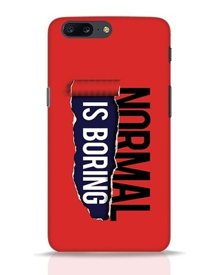 Shop Boring Normal OnePlus 5 Mobile Cover-Front