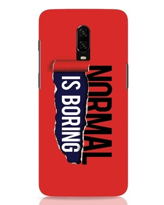 Shop Boring Normal OnePlus 6T Mobile Cover-Front