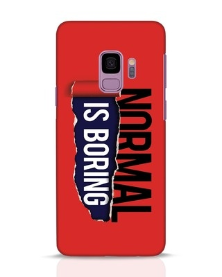 Shop Boring Normal Samsung Galaxy S9 Mobile Cover-Front