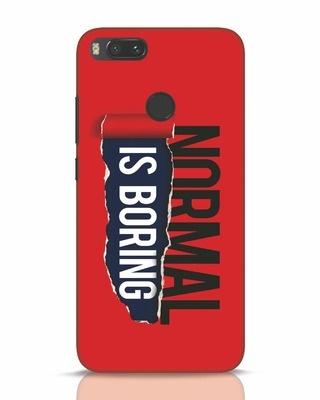 Shop Boring Normal Xiaomi Mi A1 Mobile Cover-Front