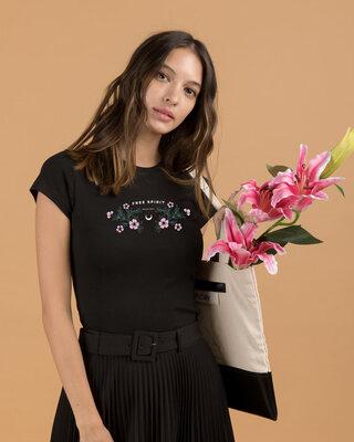 Shop Brave Spirit Half Sleeve T-Shirt Black-Front