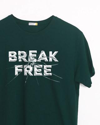 Shop Break Free Half Sleeve T-Shirt-Front