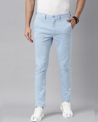 Shop Breakbounce Men Solid Casual Chino-Front