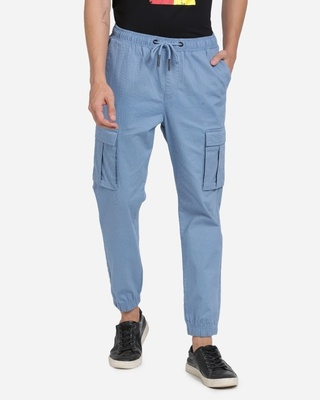 Shop Breakbounce Men Printed Casual Joggers-Front