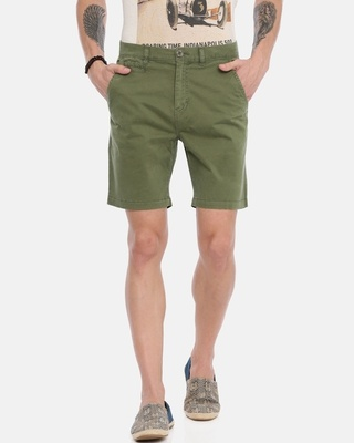 Shop Breakbounce Men Solid Casual Shorts-Front