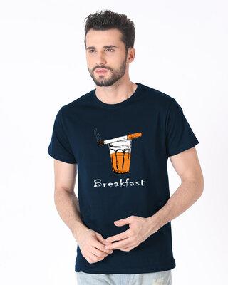 Shop Mojotrack Breakfast Half T-Shirt-Front